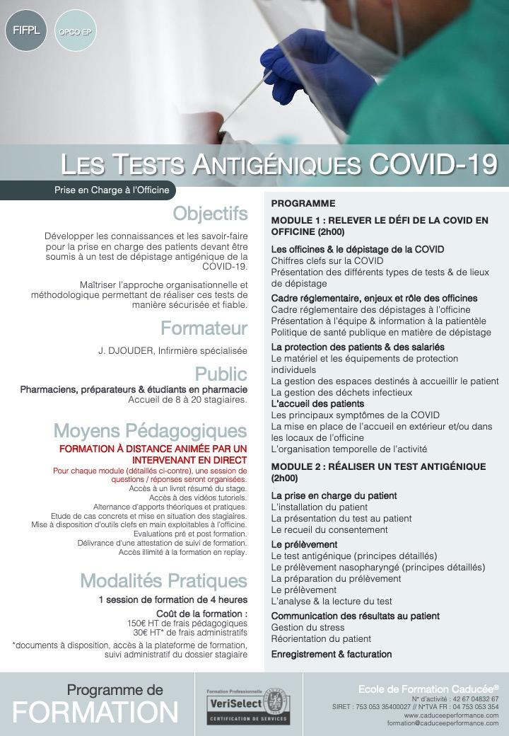 Test Antigéniques COVID-19 - Programme